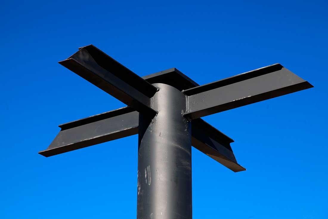Detalles estructural en los pilares
