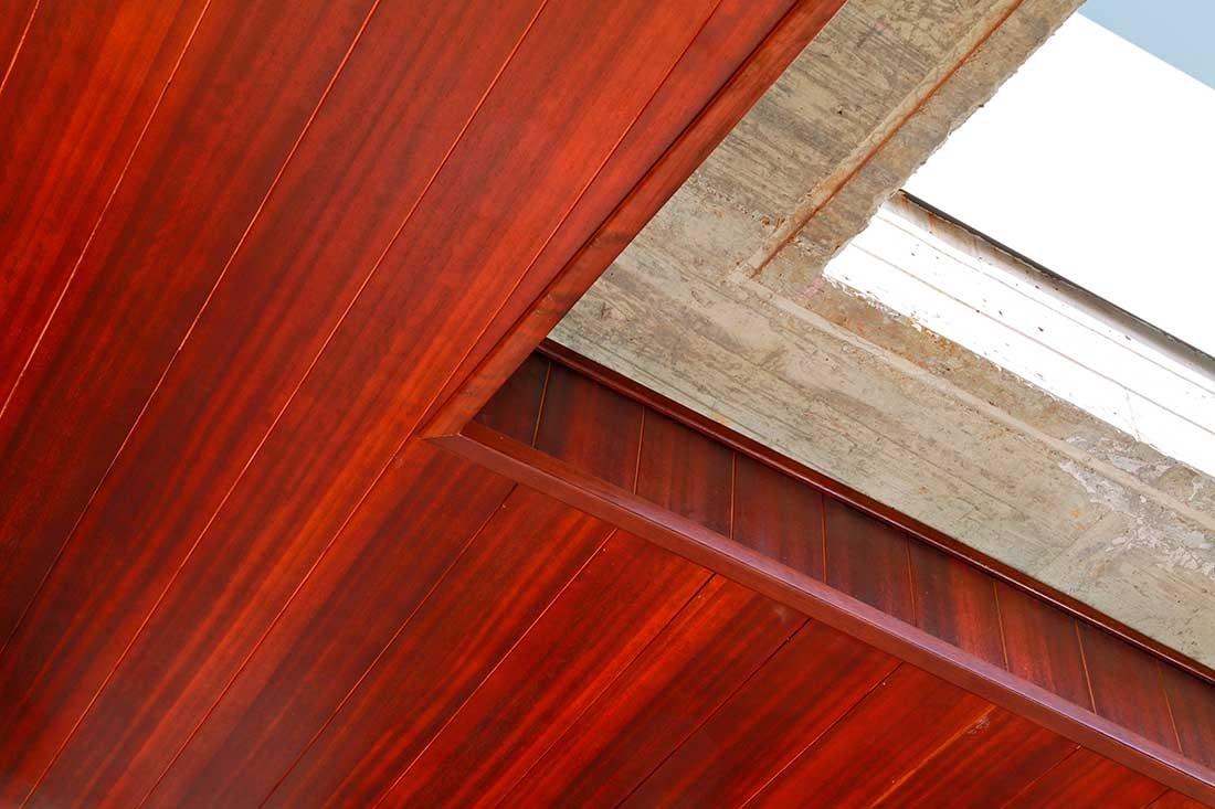 Detalle cerramiento del techo
