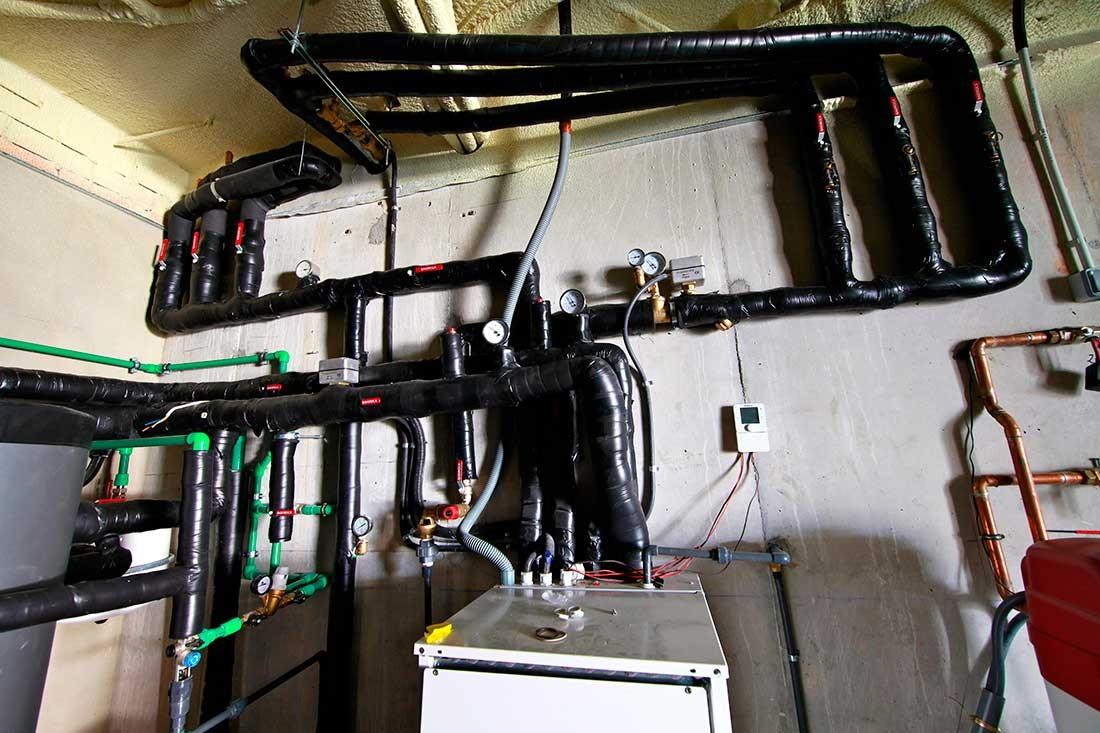 Instalación de geotermia para vivivenda ecológica