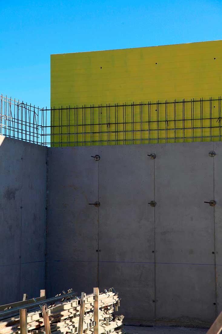 Muros de hormigón armado visto