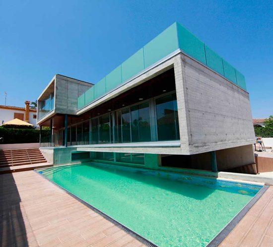 Fachada vivienda ecológica en Valencia